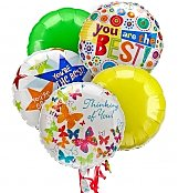 Balloons: Thinking of You Balloon Bouquet-5 Mylar
