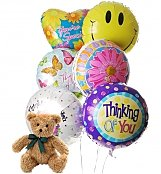 Balloons & Bear: Thinking of You Balloons & Bear-6 Mylar