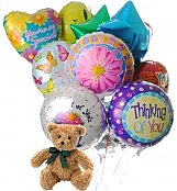 Balloons & Bear: Thinking of You Balloons & Bear-12 Mylar