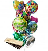 Balloons & Chocolate: Balloons & Chocolate-12 Mylar
