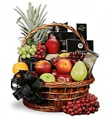 Food & Fruit Baskets: Deepest Sympathy Fruit and Gourmet Basket