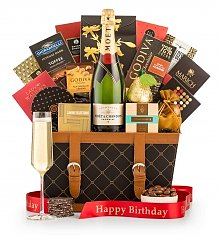 Champagne Gift Baskets: Birthday Wishes Champagne Gift Basket