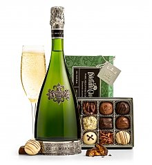 Champagne Gifts: Segura Cava and Chocolates Gift