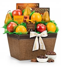 Fruit Baskets: Fresh Fruit and Godiva Chocolates